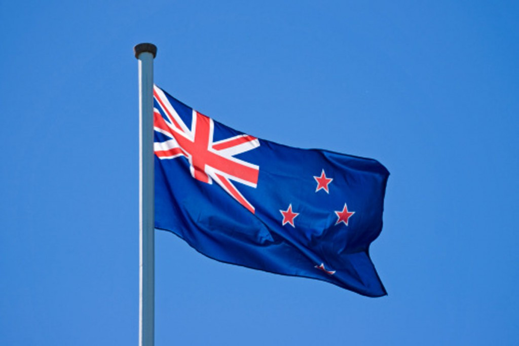 Flying New Zealand Flag